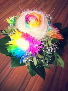 Regenbogenhochzeit - Brautstrauß